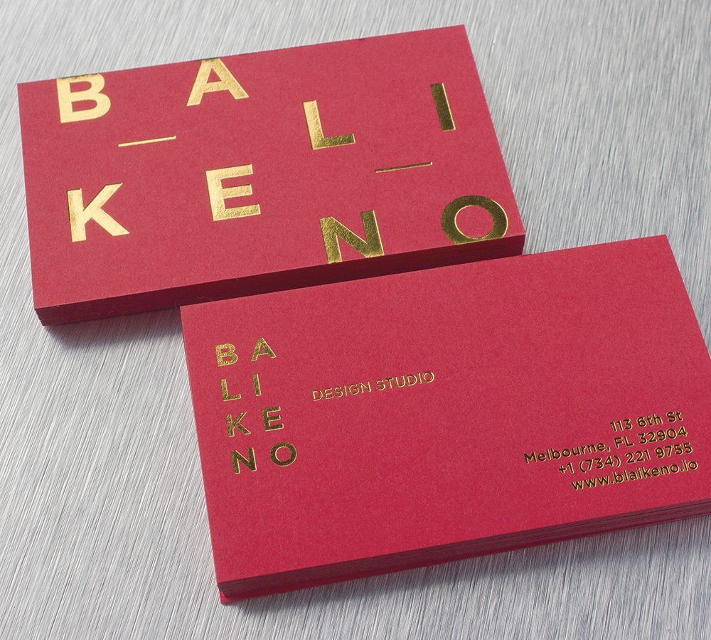 24pt. coloured Card with Gold Foil Stamp