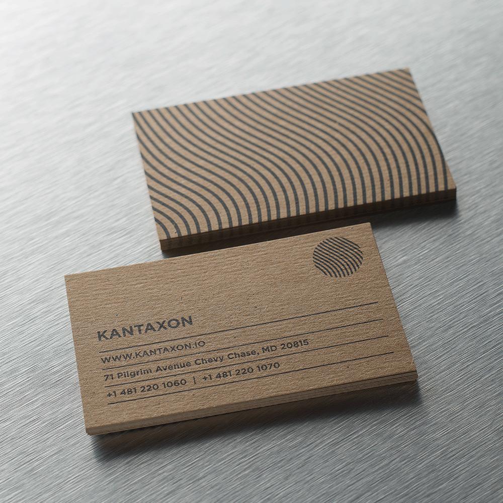 Rough Kraft Business Cards, Premium Card Print