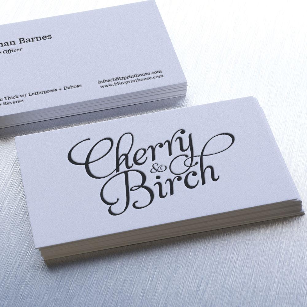 Letterpress Business Cards Premium Business Cards Blitz Print House