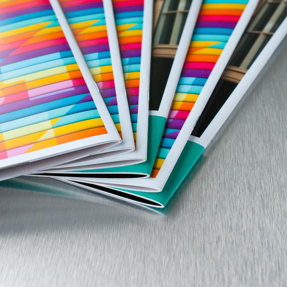 saddle stitched booklet